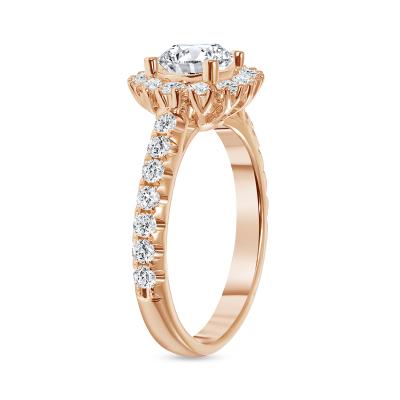 1 carat halo engagement ring