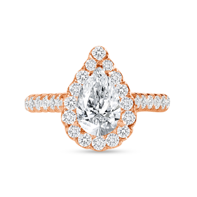 round diamond engagement ring rose gold