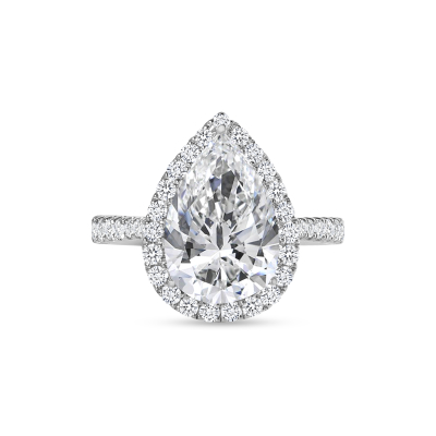 large pear engagement ring white gold