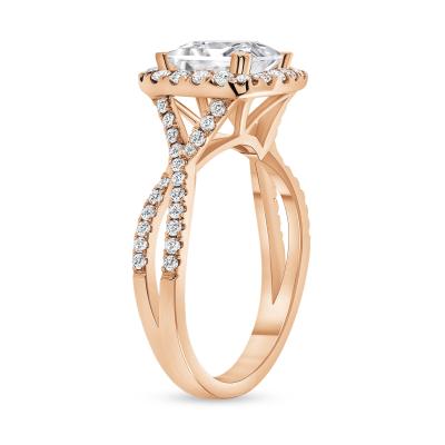 split band engagement ring rose gold