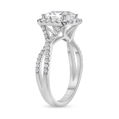 split band engagement ring white gold
