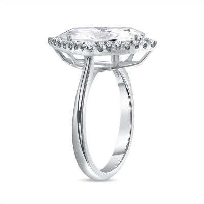 marquise big & small halo round diamond engagement ring white gold
