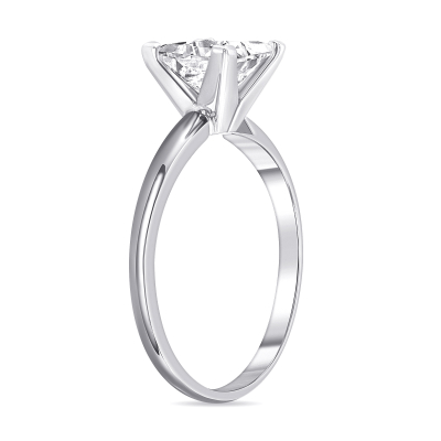 princess cut diamond solitaire engagement ring white gold