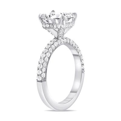 radiant cut diamond engagement ring white gold