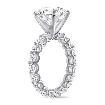 round diamond solitaire engagement ring white gold