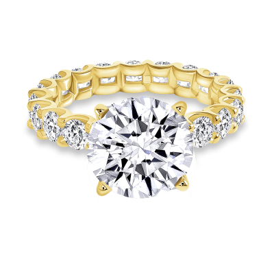 round diamond solitaire engagement ring yellow gold