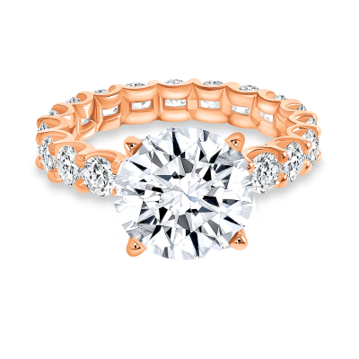 round diamond solitaire engagement ring rose gold