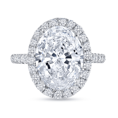 oval cut diamond engagement ring white gold