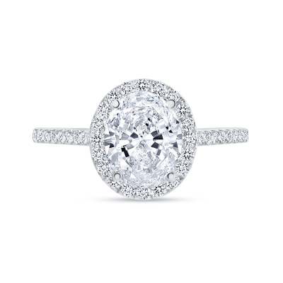 classic oval cut diamond halo engagement ring white gold