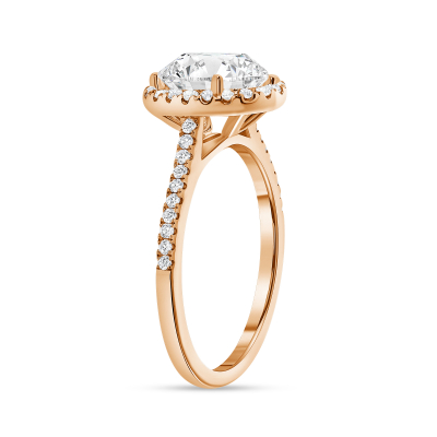 classic oval cut diamond halo engagement ring rose gold