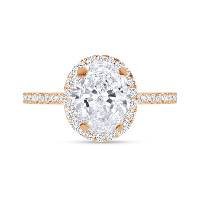 oval halo diamond engagement ring rose gold