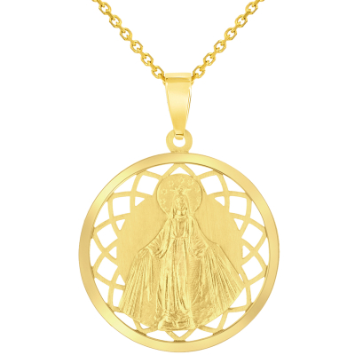 virgin mary necklace gold