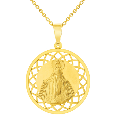 virgin mary gold necklace