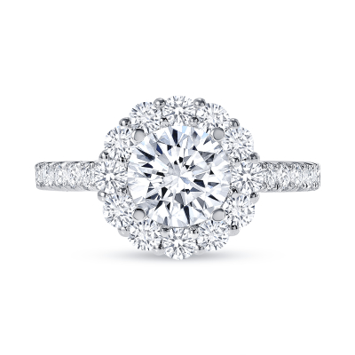 stackable halo round diamond engagement ring white gold