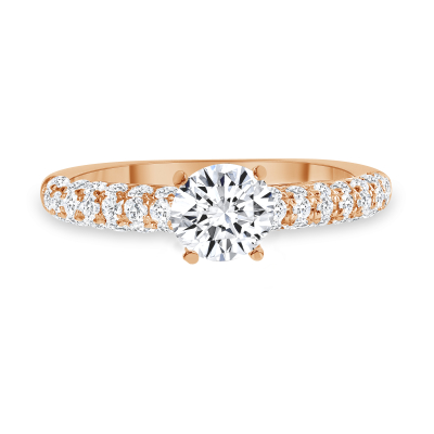 prong setting engagement ring rose gold