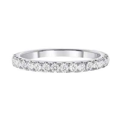 half eternity diamond band white gold