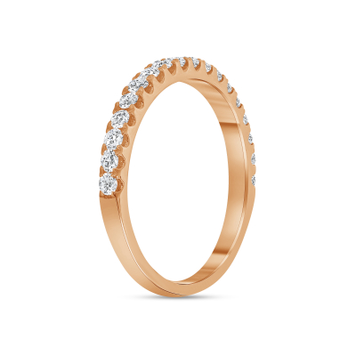 half eternity diamond band rose gold