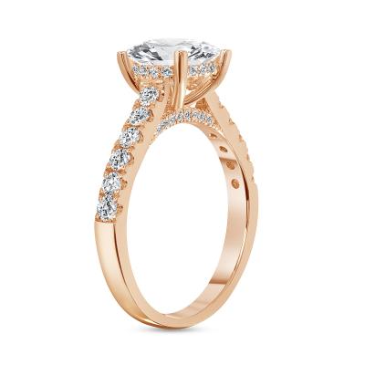 pave diamond engagement ring rose gold