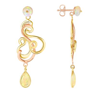 Dancing Opal Earrings #2