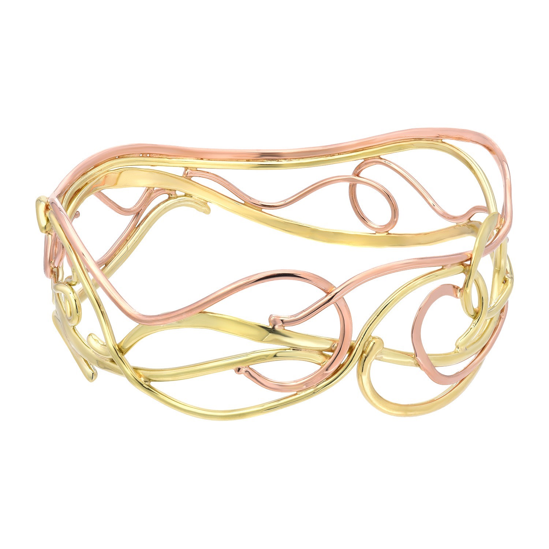 two tone bangle bracelet