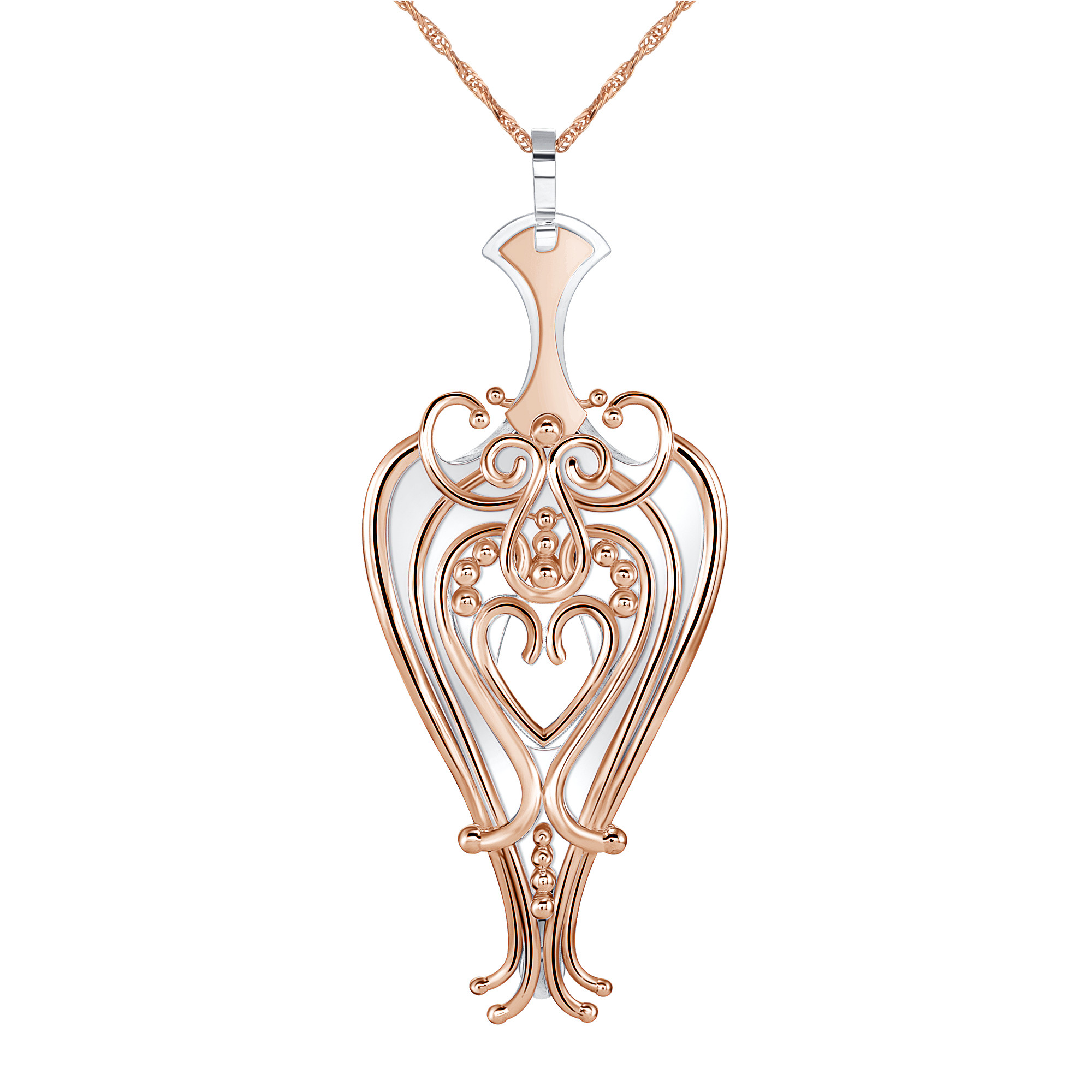 Kitty Pendant in Rose Gold and Silver