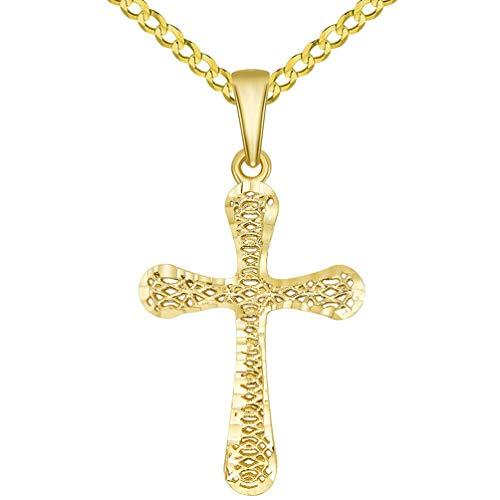 3d cross pendant