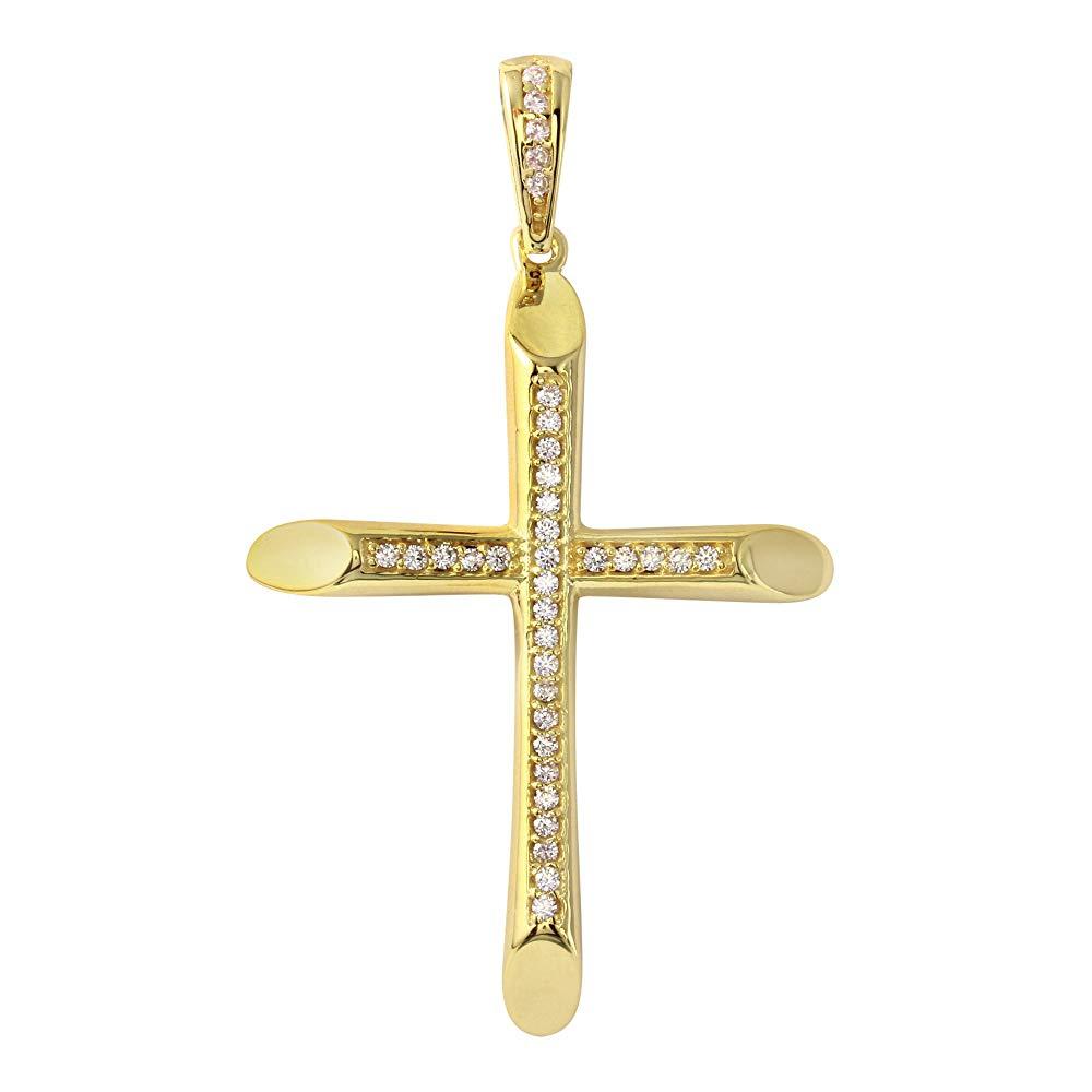 gold cross crucifix pendant