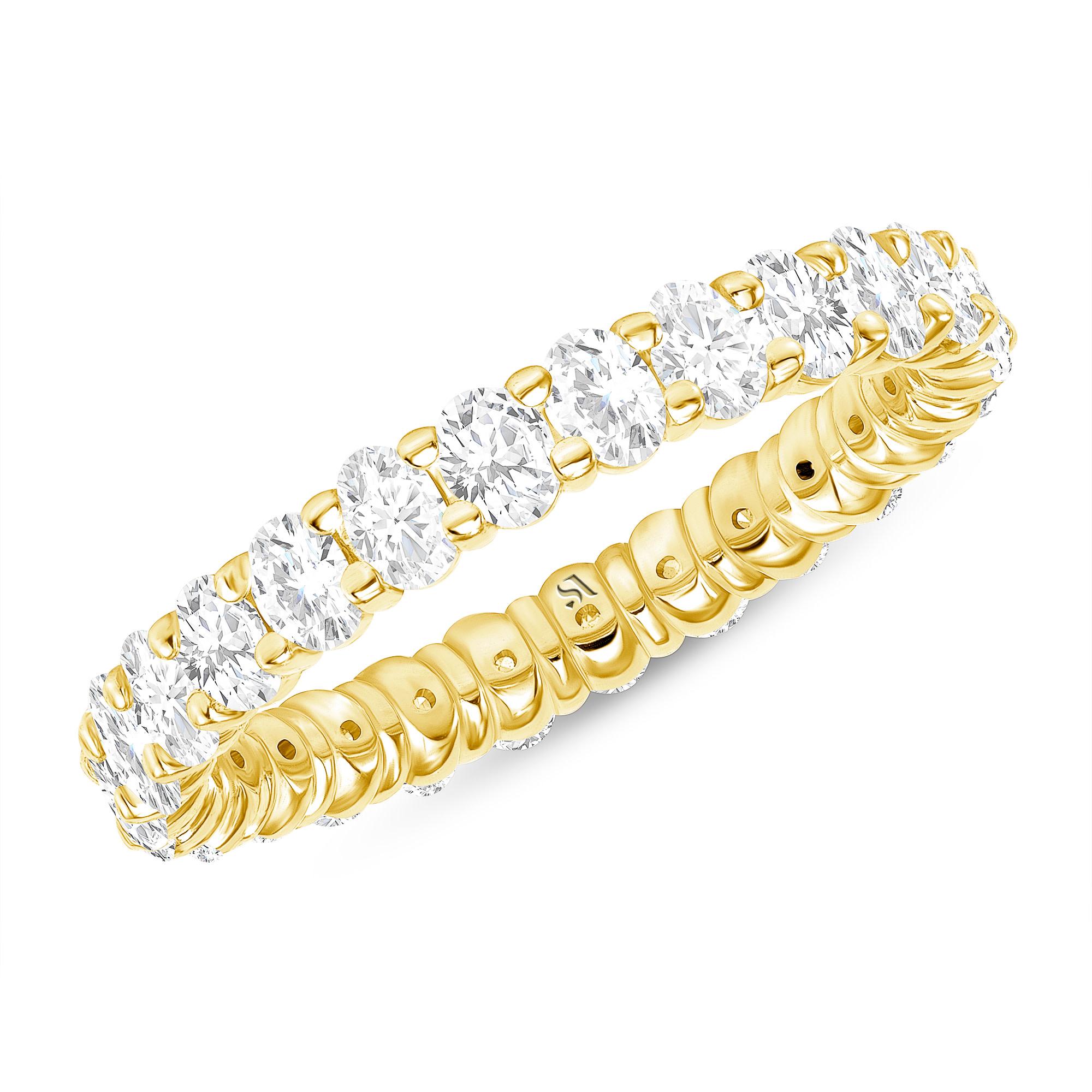 oval eternity band diamond gold | Sabrina A Inc