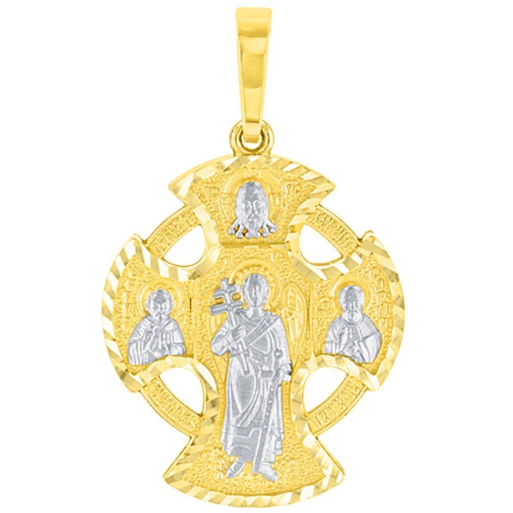 14k gold celtic cross pendant