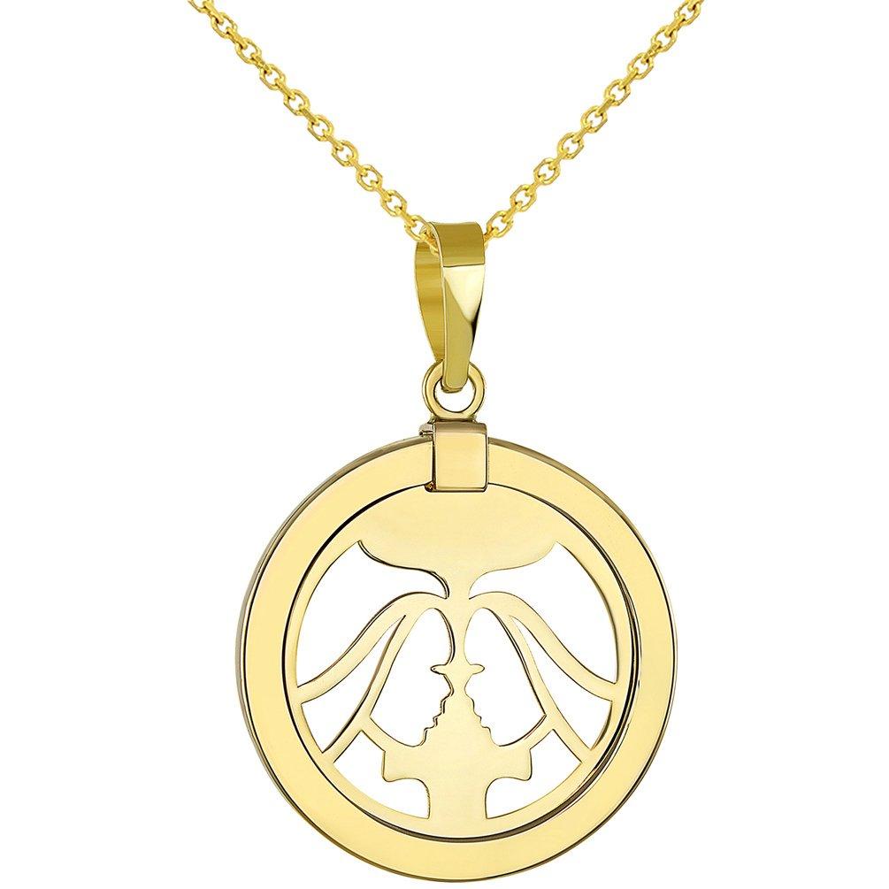 gemini sign necklace