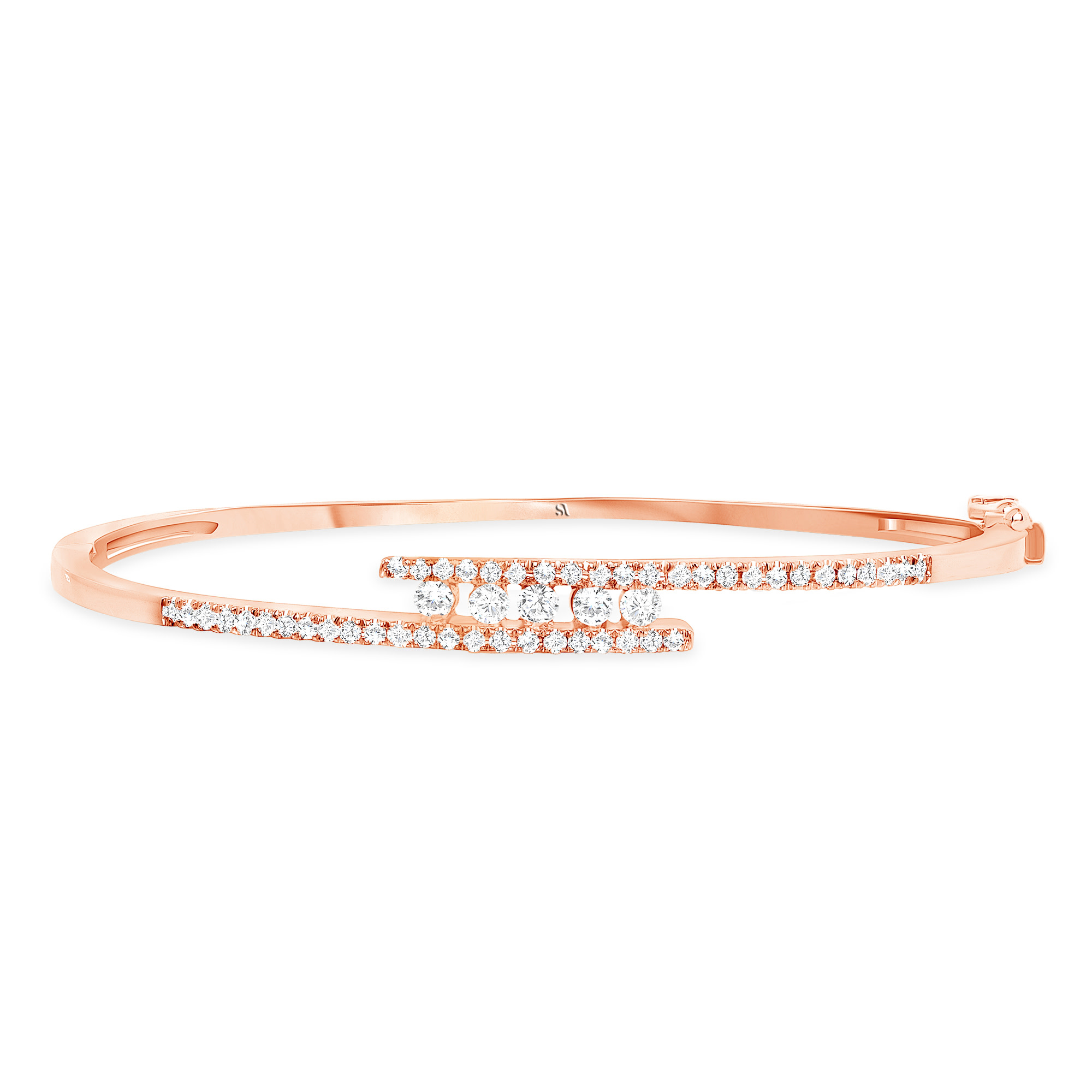 Diamond Bangle with a Twist | Rose Gold