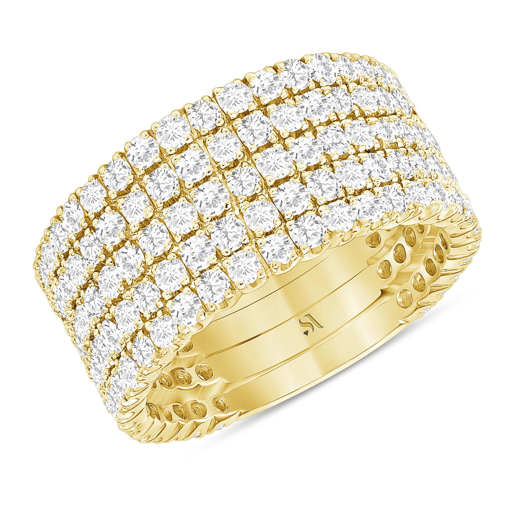 multiple band diamond ring