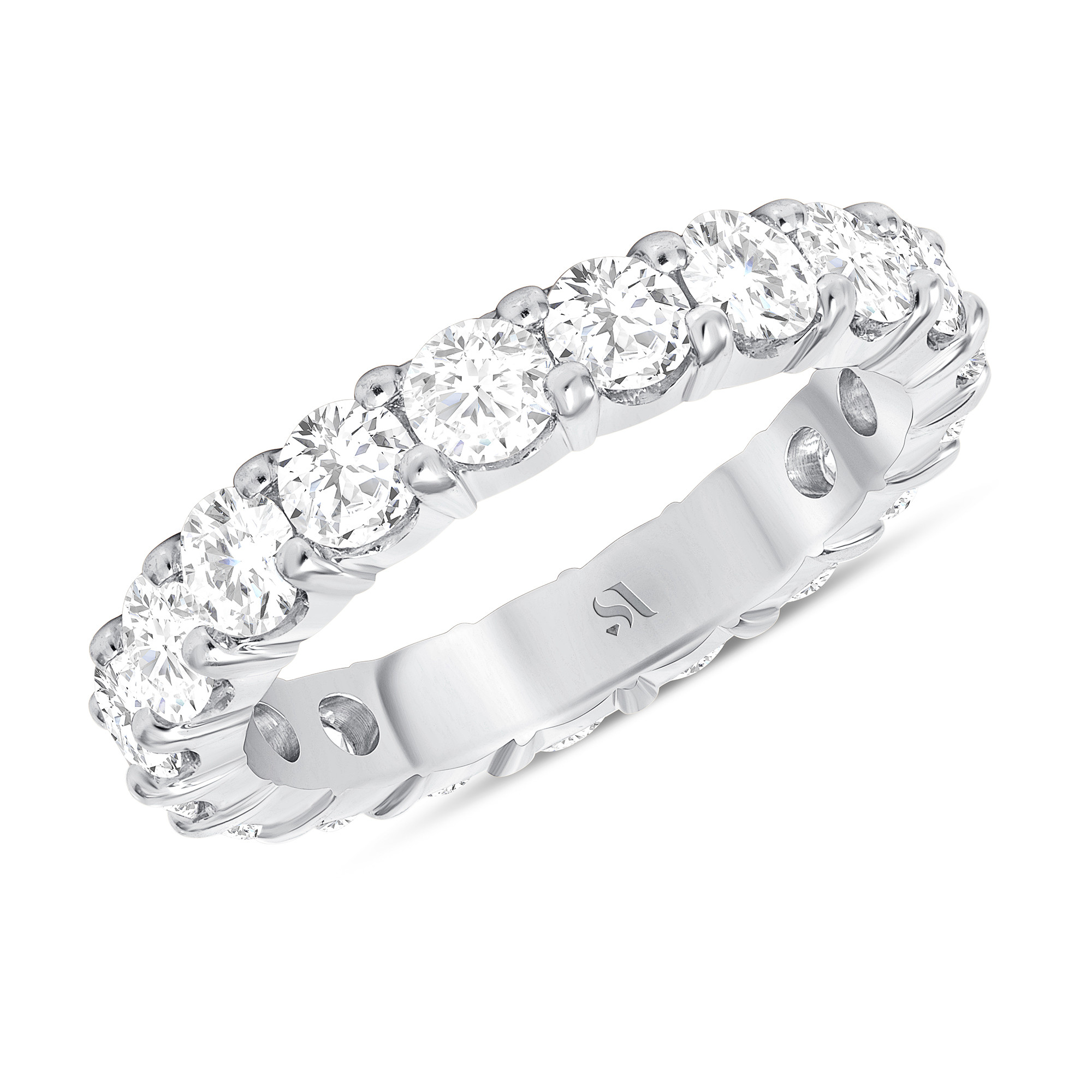 Round Diamond Eternity Band | Sabrina A Inc