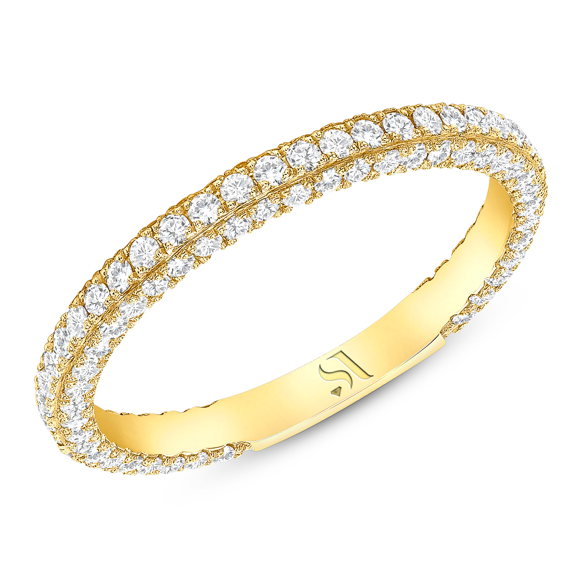 3D Round Diamond Eternity Band