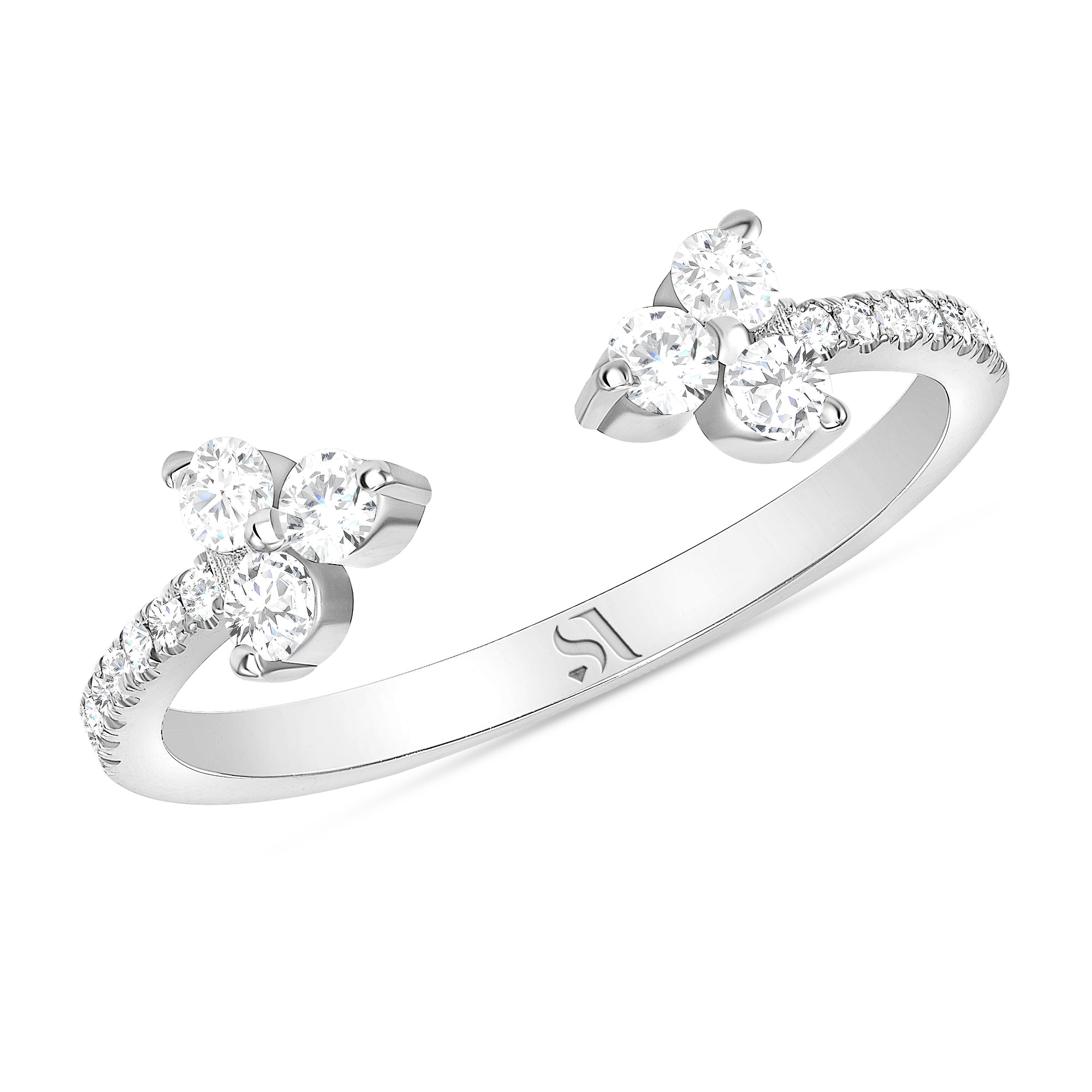 Open Diamond Eternity Band | Sabrina A inc