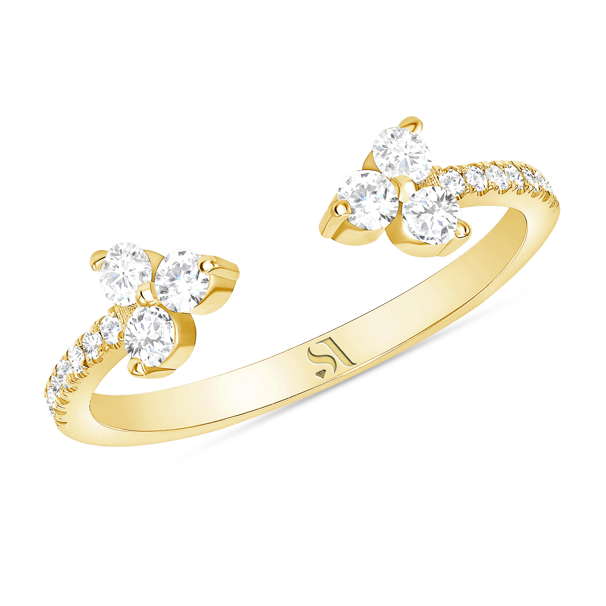 Open Diamond Eternity Band Gold