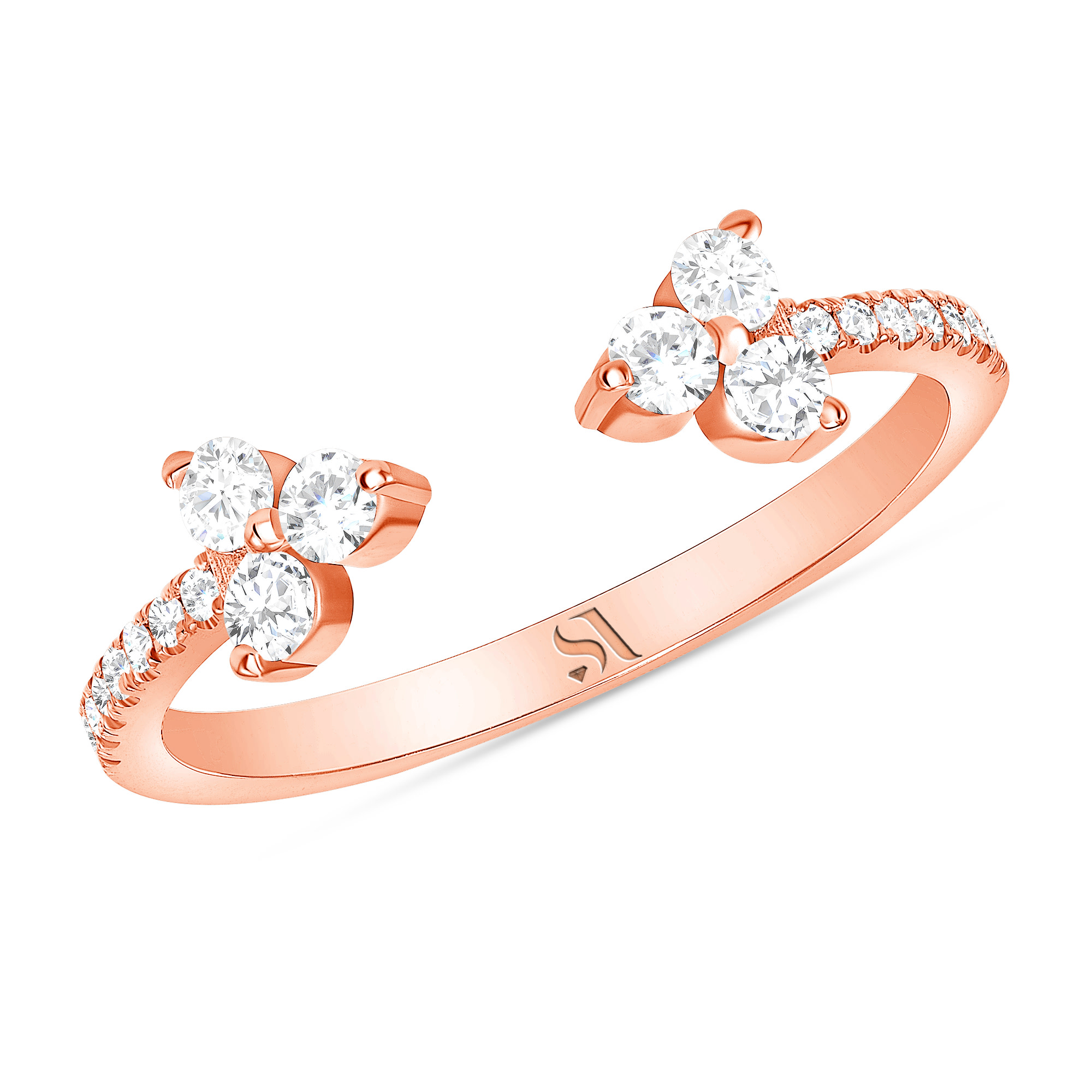 Open Diamond Eternity Band Rose