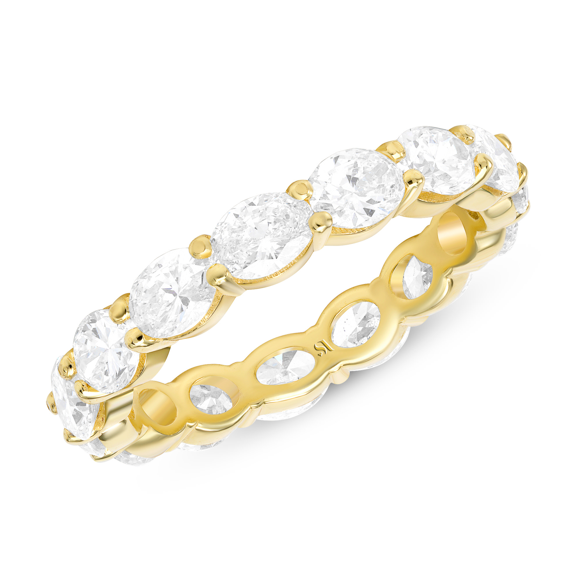 eastwest oval full eternity band - yellow gold