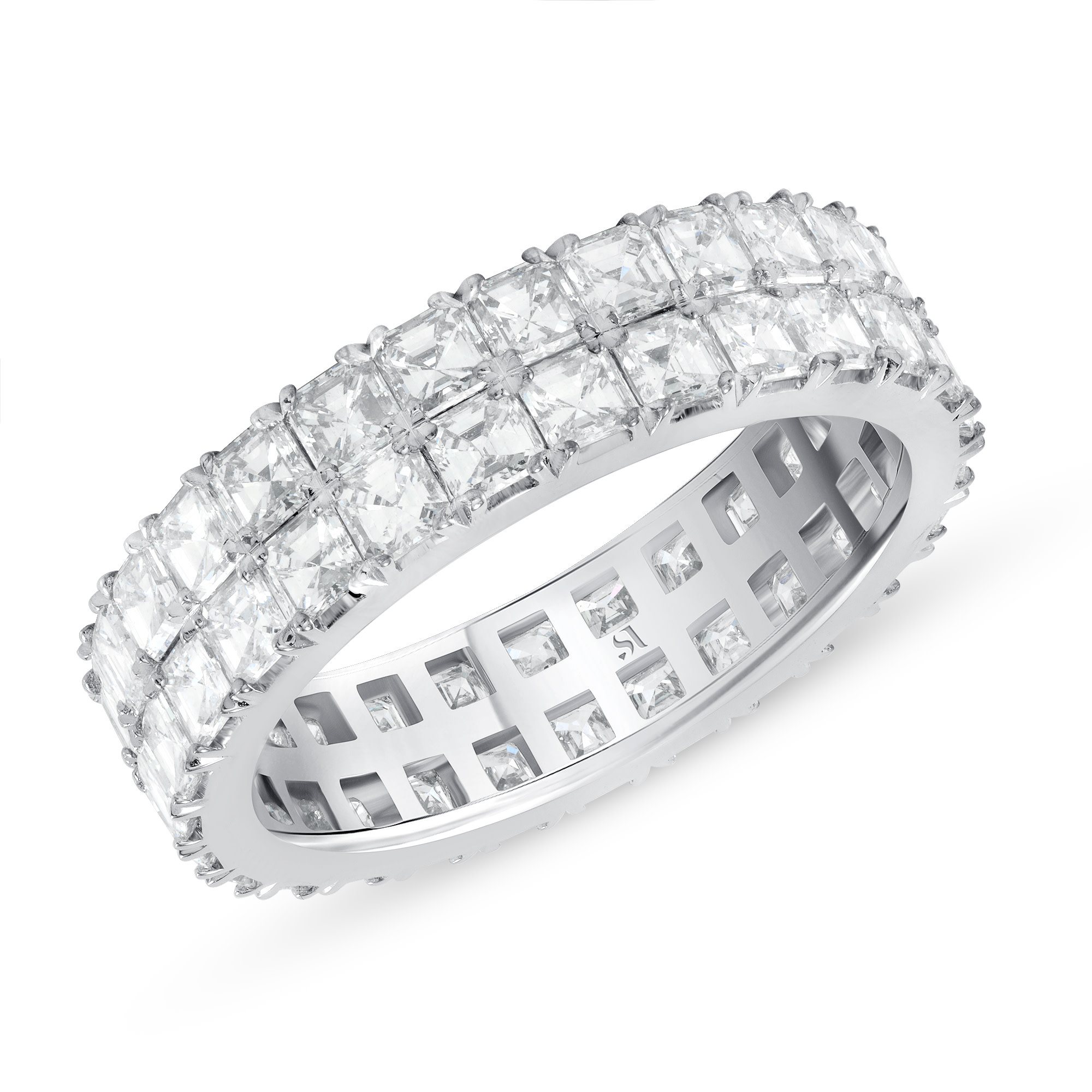 Asscher Cut Diamond Eternity Band | Sabrina A Inc