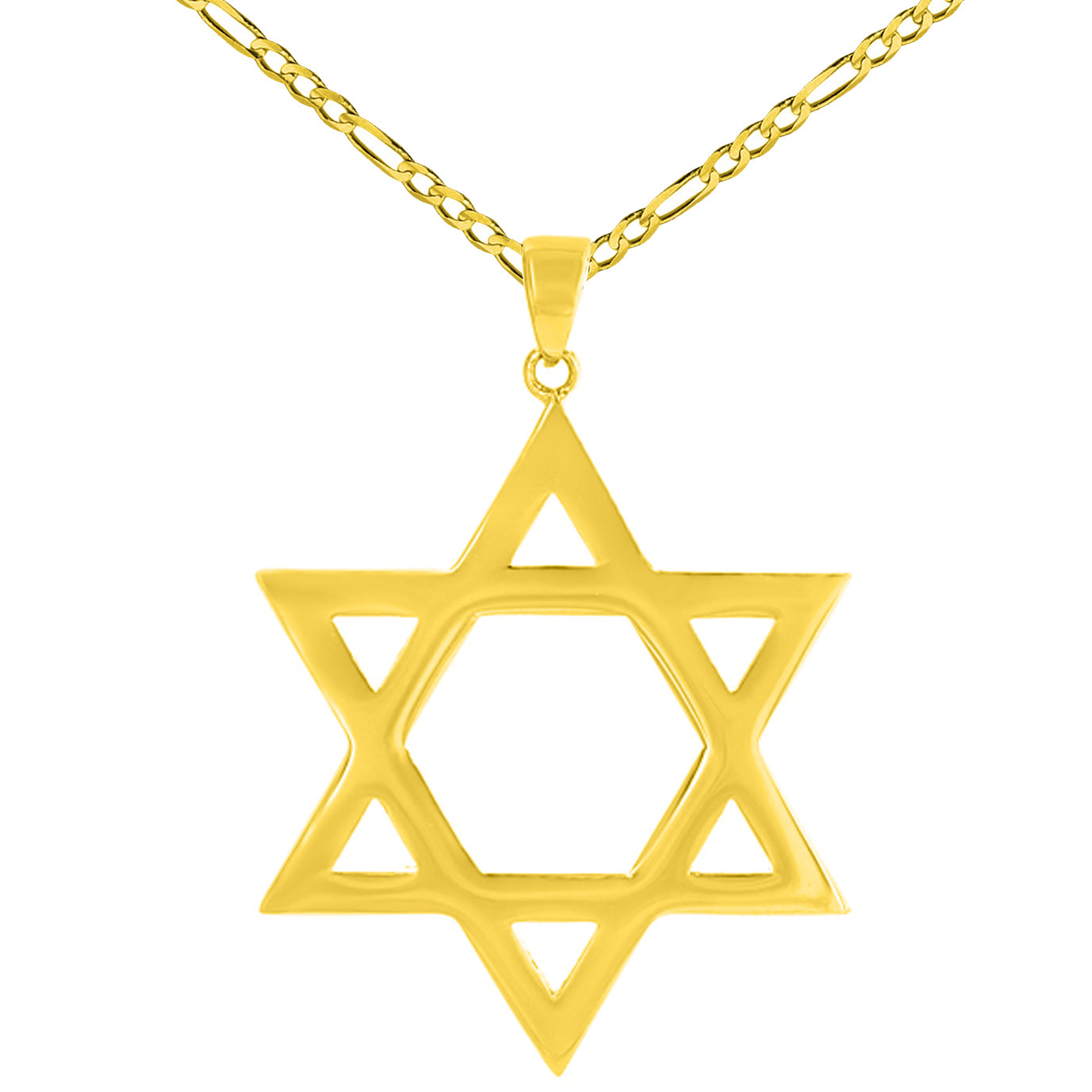 Solid 14K Yellow Gold Large Star