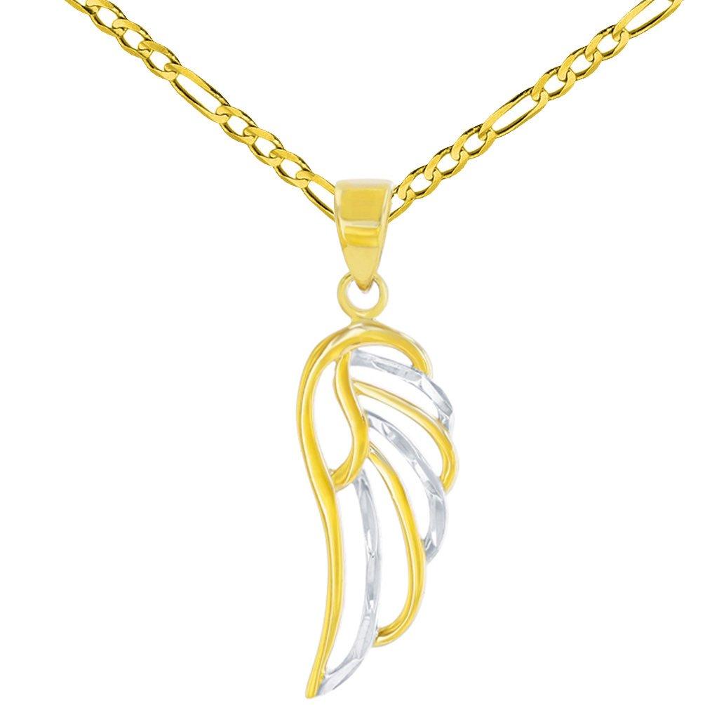 14k gold angel wing charm