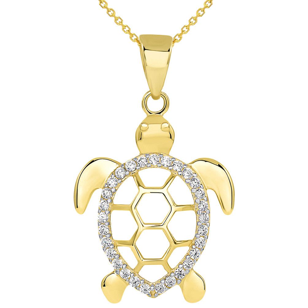 gold sea turtle pendant