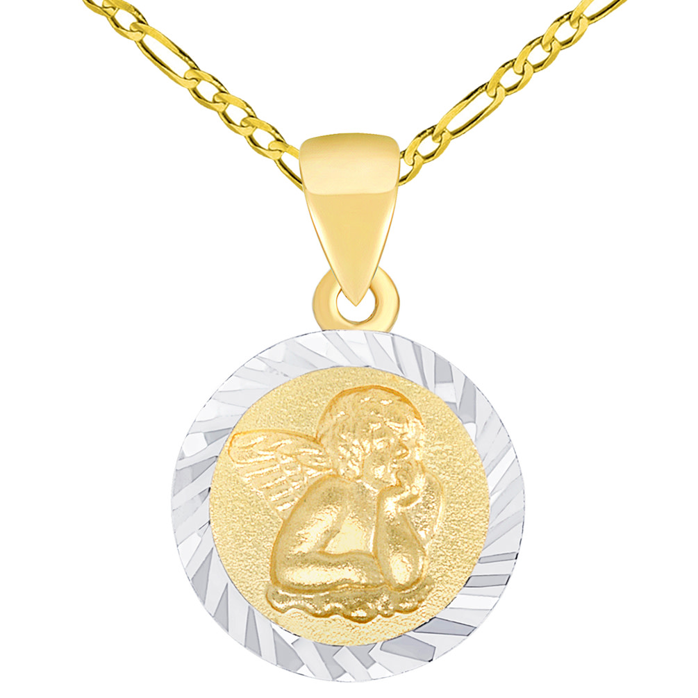 guardian angel necklace gold