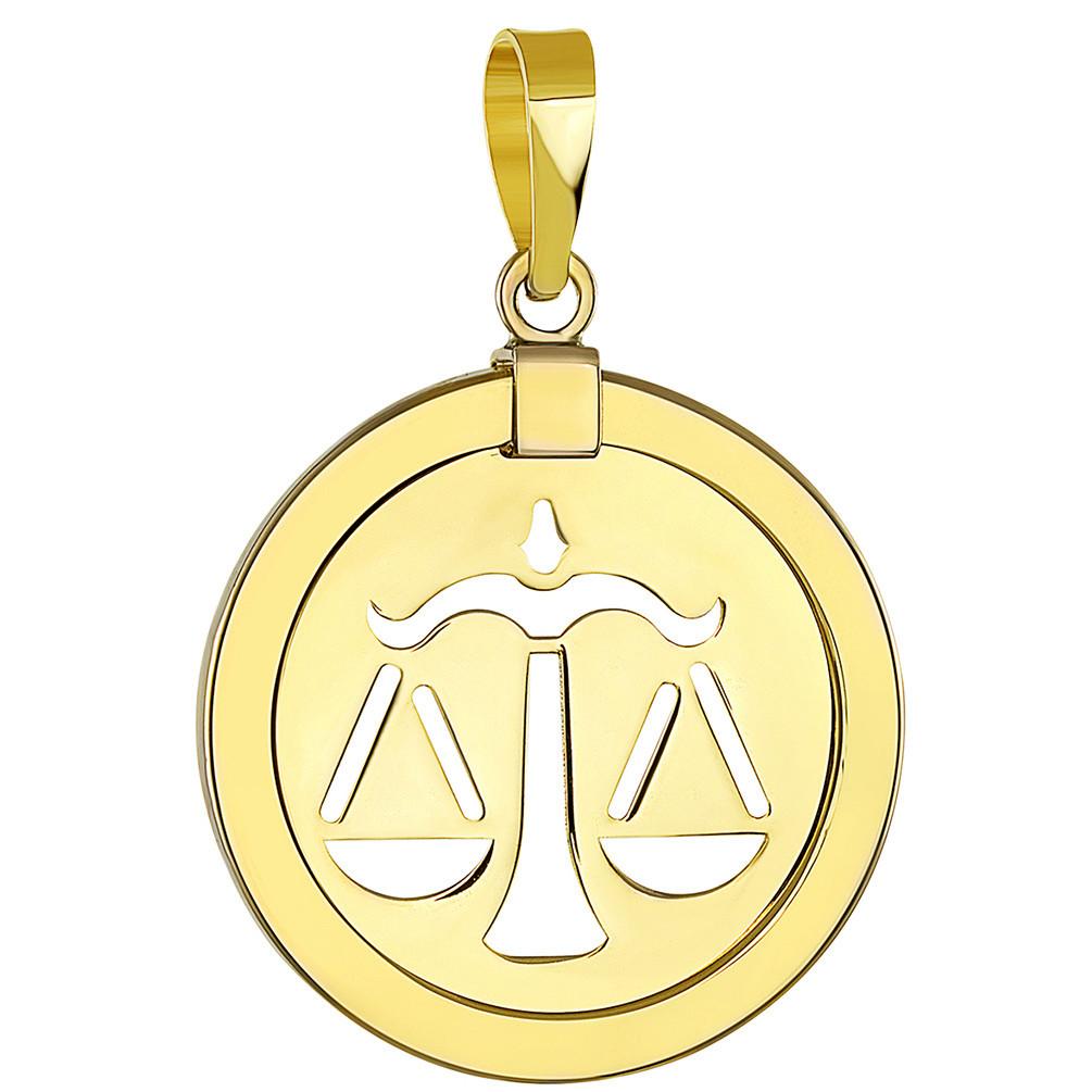 leo pendant 14k yellow gold