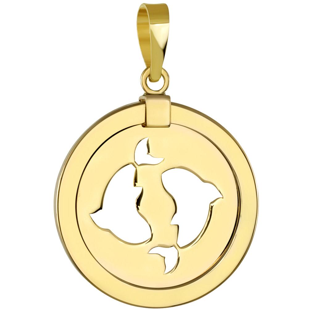 pisces pendant gold