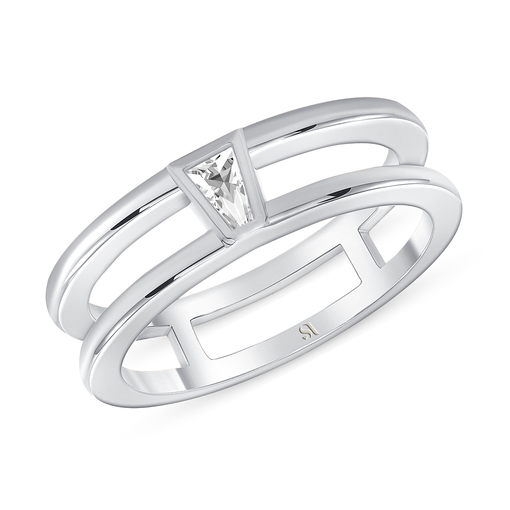 Tapered Baguette Diamond Double Band