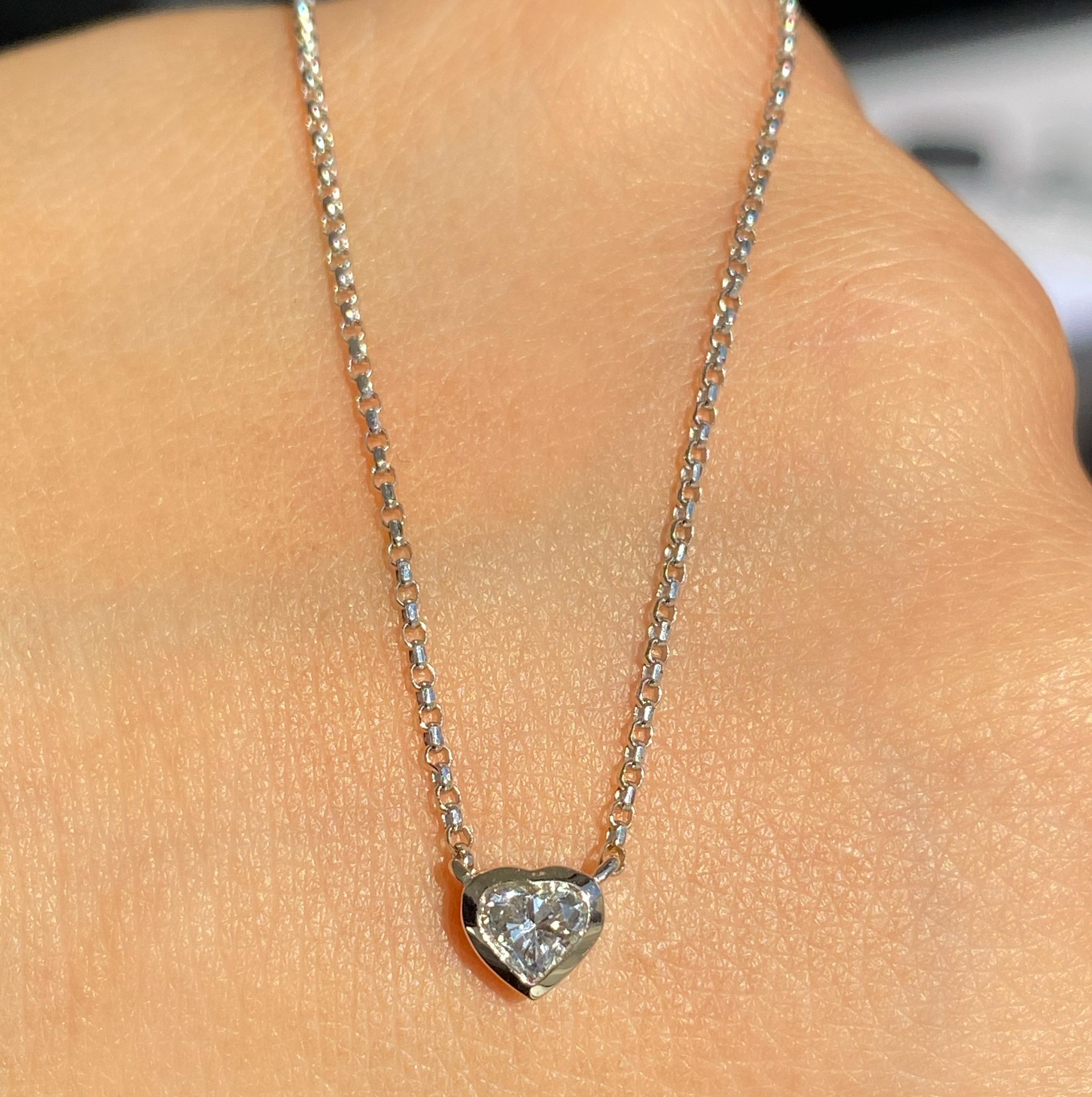 Heart shape Diamond Necklace -  Image