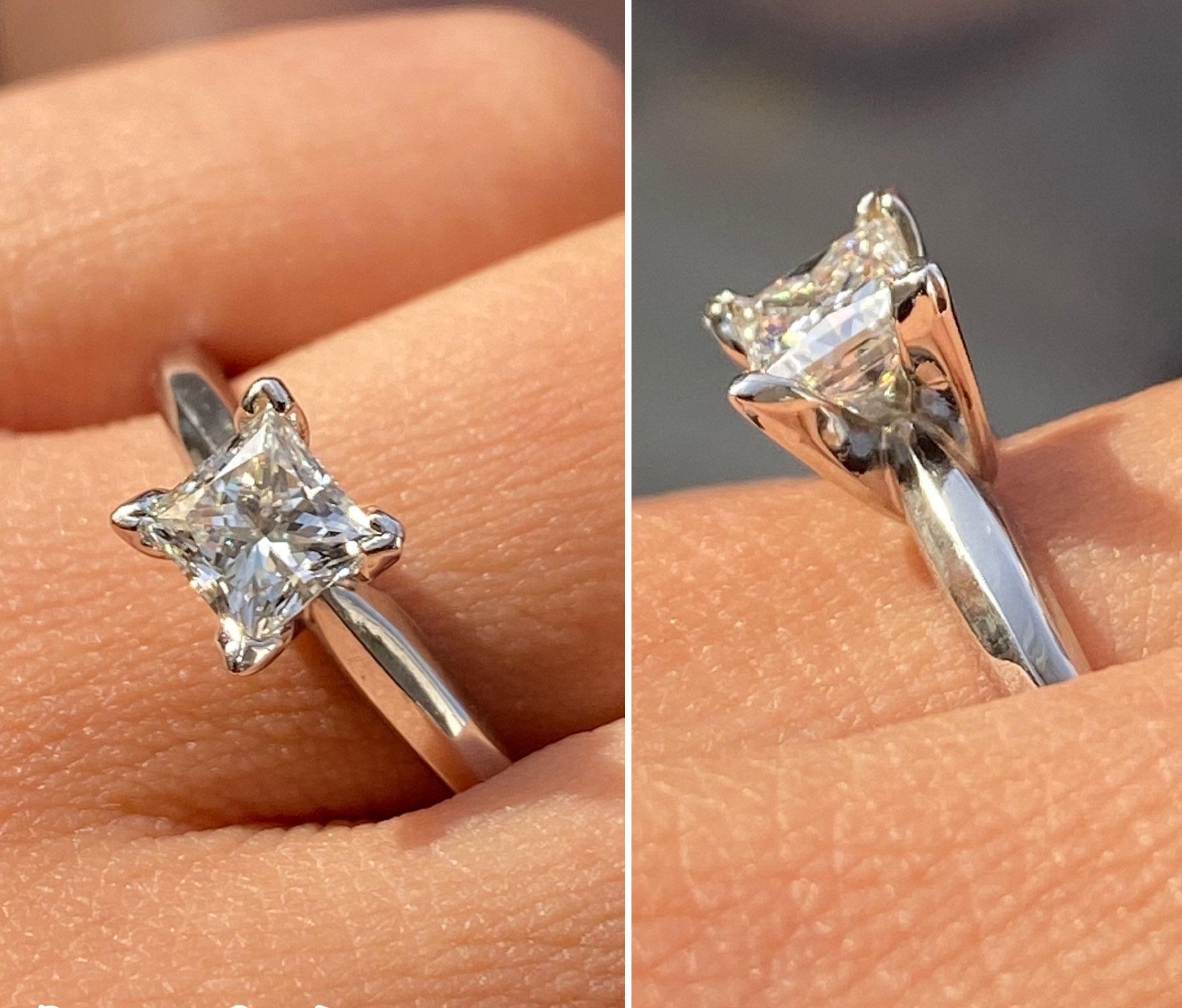 Princess Cut Diamond Engagement Ring - Image