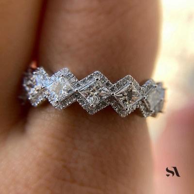 princess crown ring | 3ct diamond ring princess cut