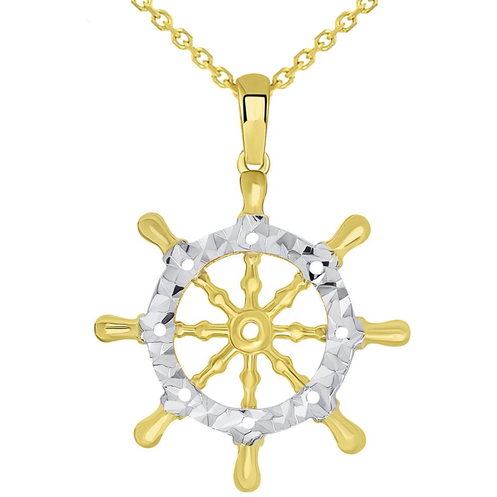 ships wheel pendant necklace